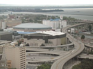 Buffalo Memorial Auditorium - Image: HSBC Arena and the Aud
