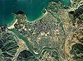 Hagi Castle Town Aerial photograph.1976.jpg