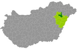 hajdúböszörmény térkép Hajdúböszörmény District   Wikipedia hajdúböszörmény térkép