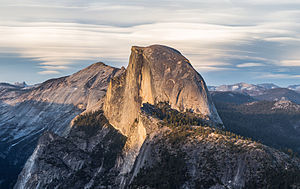 Half Dome - Sunset over Half Dome from Glacier Point