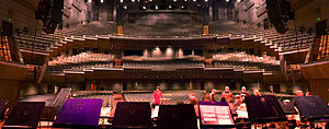 Hamer Hall, Melbourne - Interior from back of the stage