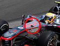 Hamilton Canadian GP 2010 with F-duct.JPG