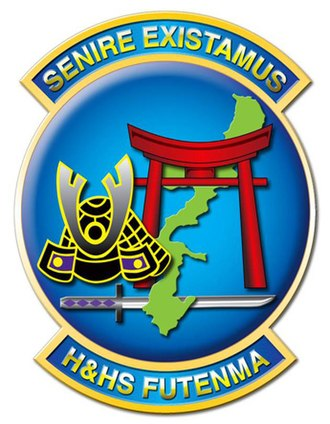 Headquarters and Headquarters Squadron - Image: Hand HS Futenam logo