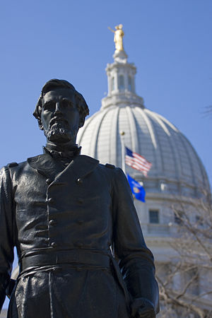 Hans Christian Heg - Statue of Col. Hans Christian Heg, Wisconsin State Capitol, Madison