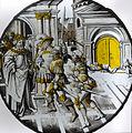 Hans Knock Glasscheibe König David begrüßt Urias.jpg