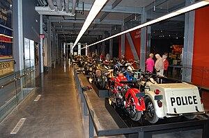 Harley-Davidson Museum - Motorcycle procession display