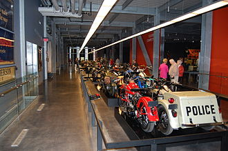 Harley-Davidson Museum - Motorcycle procession display
