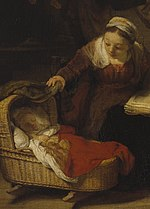 Harmensz van Rijn Rembrandt - Святое семейство - Google Art Project (cropped for mother and child).jpg