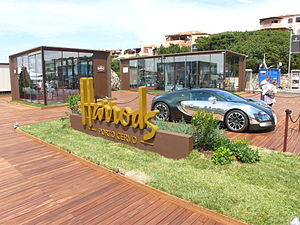 Gallura - The Bugatti stand at Harrods in Porto Cervo