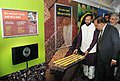 "Harsh Vardhan and the Minister of State for Environment, Forest and Climate Change (Independent Charge), Shri Prakash Javadekar visiting an exhibition, at the flag-off ceremony of the ""Science Express Climate Action Special"" (1).jpg"