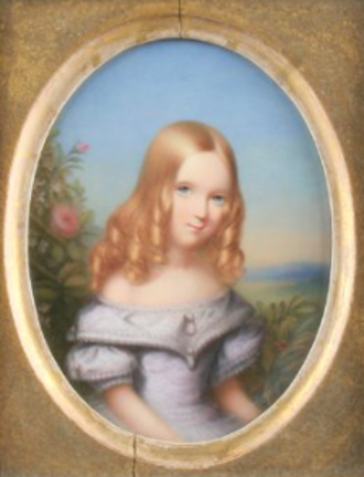 John Haslem (artist) - Lady Cecilia Lennox (Portrait miniature on porcelain)