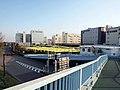 Hato Bus Tokyo Dept from Footbridge April 2020.jpg