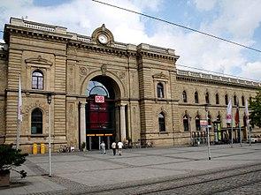 Bâtiment d'accueil de la gare centrale de Magdebourg
