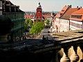 Hauptmarkt 1, Rathaus, Blick von Wasserkunst, Gotha.JPG