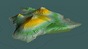 Hawaii (island) - Aerial view, 3D computer-generated image