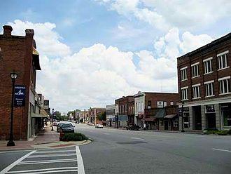 Hawkinsville, Georgia - Image: Hawkinsville Downtown