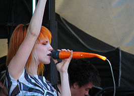 Hayley Williams op de Vans Warped Tour, 2007 in Vancouver, Thunderbird Stadium at UBC.