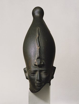 Osiris - Head of the God Osiris, ca. 595-525 B.C.E. Brooklyn Museum