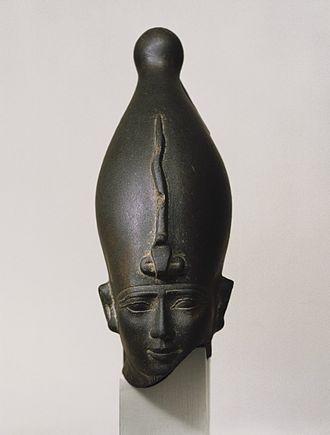 Osiris - Head of the God Osiris, ca. 595-525 B.C.E. Brooklyn Museum