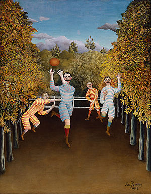 Les Joueurs de football - Henri Rousseau, 1908, The Football Players, oil on canvas, 100.5 × 80.3 cm, Solomon R. Guggenheim Museum