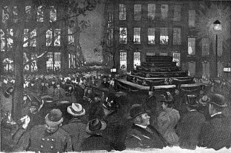 Henry George - George's funeral procession on Madison Avenue