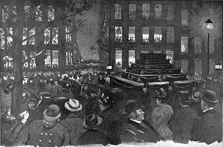 George's funeral procession on Madison Avenue Henry George Funeral EM McKay.jpg