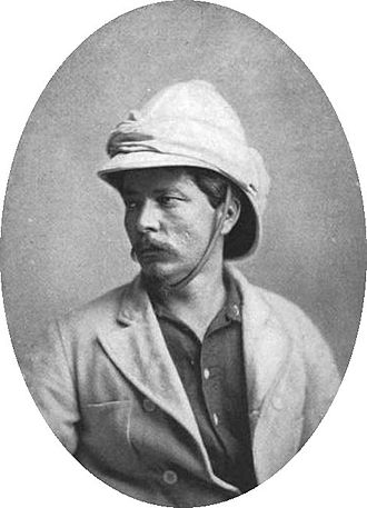 Pith helmet - British journalist and explorer Sir Henry Morton Stanley, wearing a pith helmet of the 'colonial pattern' with a white puggaree in 1872