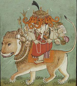 Heramba - Image: Heramba ganapati
