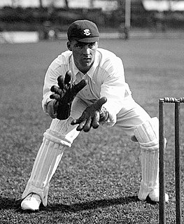 Herbert Strudwick Cricket player of England.