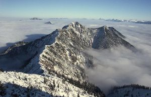 Bavarian Prealps - The Herzogstand (1731 m) from the Heimgarten