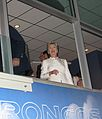 Hillary Clinton in a box at the 2008 DNC (2808232059).jpg