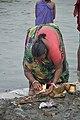 Hindu Devotee Preparing Surya Puja - Makar Sankranti Observance - Kolkata 2018-01-14 6584.JPG