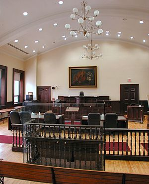 Courtroom - Historic courtroom still in use in Brockville, Canada