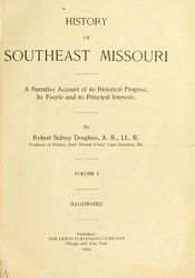 Robert Sidney Douglass: History of Southeast Missouri
