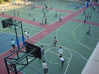 A co-ed secondary school playground