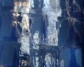Hl. Kreuz München. Fenster v. Christoph Brech Detail mit Lichtbrechung.tif