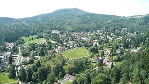 Hochwald (Zittau Mountains) - Image: Hochwald von Oybin