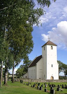 Hoff Church church building in Østre Toten, Oppland, Norway