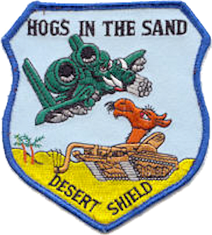 511th Tactical Fighter Squadron - Desert Storm commemorative patch
