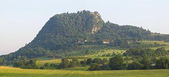 Hegau - Hohentwiel mountain in the Hegau