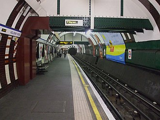 Holloway Road tube station - Image: Holloway Road stn westbound look north
