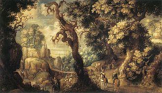 Gillis d'Hondecoeter - Baptism of the Moorish Chamberlain, n.d., Antwerp, Rockox House.