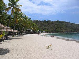 Water Island, U.S. Virgin Islands - Honeymoon beach as it appears today