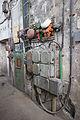 Hornický skanzen Mayrau, ovládání výtahu.jpg