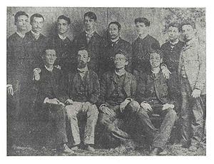 Eugenio María de Hostos - Hostos and his students at the Normal School in 1880