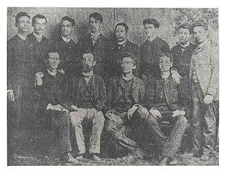 Eugenio María de Hostos - Hostos and his students at the Normal School in 1880