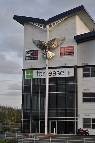 Black Country Route - 'Hovering kestrel' by John McKenna sculptor 2009