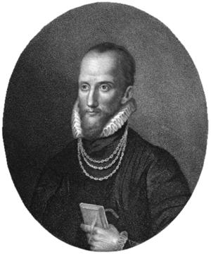 Humphrey Llwyd - Portrait of Humphrey Llwyd, from a 1799 book.