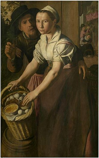 Huybrecht Beuckeleer - The egg seller