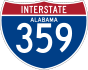 Interstate 359 marker